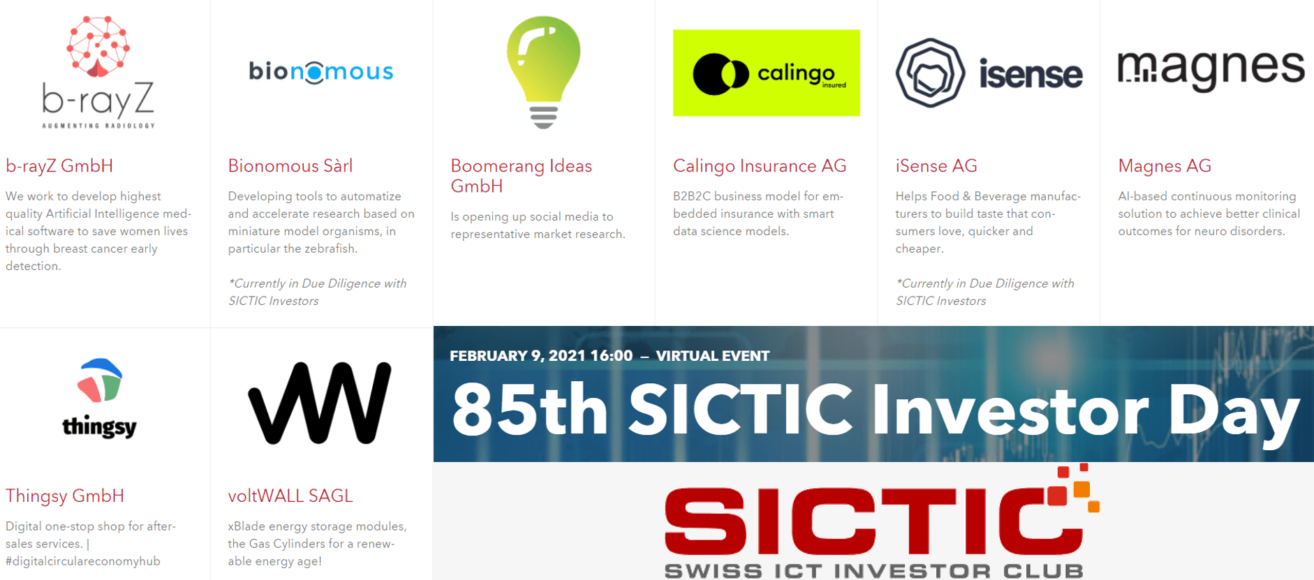 85th SICTIC Investor Day