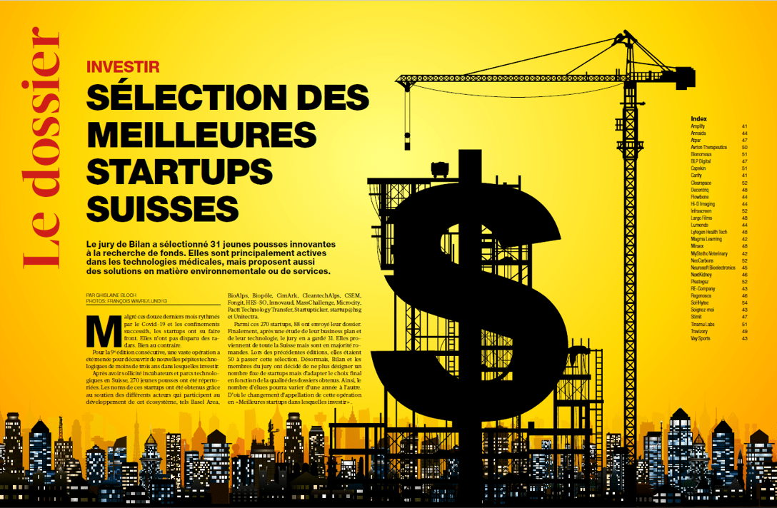 Bilan magazine selects Bionomous as one of the most promising startups in Switzerland